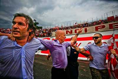 Sannino celebrates promotion at Varese